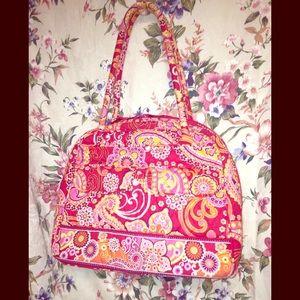 Vera Bradley's Retired Rasberry Fizz 2 Zipper Bag